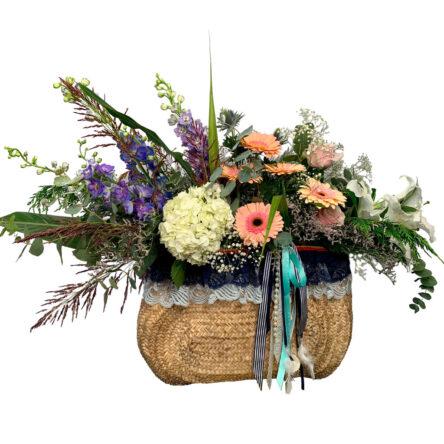 Capazo de flores San Juan