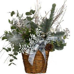 centro de flores blanca navidad